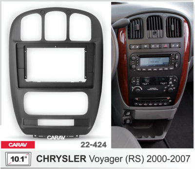 "Carav Carav 22-424 | 10.1"" переходная рамка Chrysler Voyager (RS) 2000-2007 (фото, вид 1)"