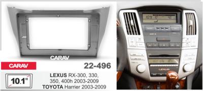 """Carav Carav 22-496   10.1"""" переходная рамка Lexus RX-300, 330, 350, 400h 2003-2009 (фото, вид 1)"""
