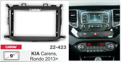 "Carav Carav 22-423   9"" переходная рамка KIA Carens 2013+, Rondo 2013+ (фото, вид 1)"