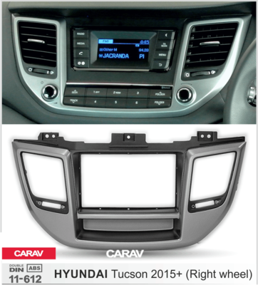 Carav Переходная рамка 2DIN HYUNDAI Tucson 2015+ руль справа / с карманом (CARAV 11-612) (фото, вид 3)