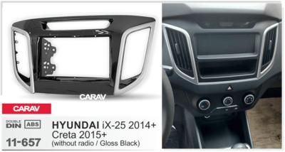 Carav Переходная рамка Hyundai Creta 2016-2020 без ГУ (CARAV 11-657) (фото, вид 2)