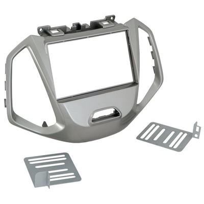 Incar (Intro) Переходная рамка Ford Ecosport 17+ 2DIN (крепеж) SILVER (Incar RFO-N33) (фото, вид 1)