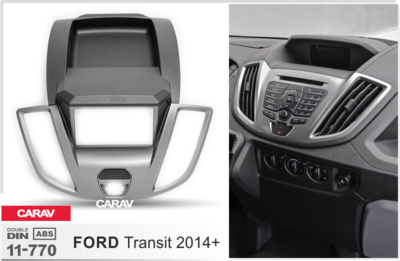 Carav Carav 11-770 | 2DIN переходная рамка Ford Transit 2014-2021 (фото, вид 3)