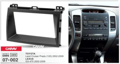 Carav Carav 07-002 | 2DIN переходная Toyota Land Cruiser Prado (120) 2002-2009, Lexus GX 470 2002-2009 (фото, вид 2)