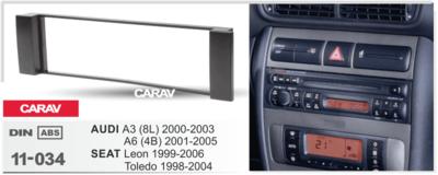 Carav Carav 11-034   1DIN переходная рамка Seat Toledo, Leon 1999-2005, Audi A3 (8L), 2000-2003, A6 (4B) 2001-2005 (фото, вид 1)