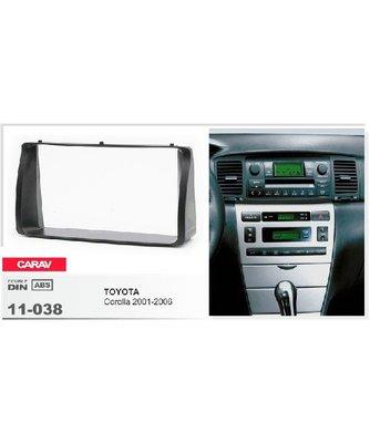 Carav Carav 11-038 | 2DIN переходная рамка Toyota Corolla 2001-2006 (фото, вид 3)