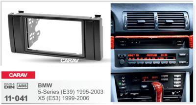 Carav Carav 11-041 | 2DIN переходная рамка BMW 5-Series (E39) 1995-2003, X5 (E53) 1999-2006 (фото, вид 3)