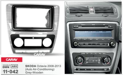 Carav Carav 11-042   2DIN переходная рамка Skoda Octavia 2008-2013 (с климат-контролем) (фото, вид 3)