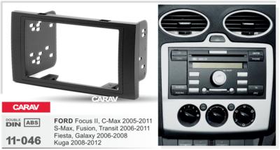 Carav Carav 11-046   2DIN переходная рамка Ford Focus II, C-Max 2005-2011, S-Max, Fusion, Transit 2006-2011, Fiesta, Galaxy 2006-2008, Kuga 2008-2012 (фото, вид 2)