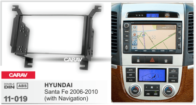 Carav Carav 11-019   2DIN переходная рамка Hyundai Santa Fe 2006-2010 (только для а/м с навигацией) (фото, вид 2)