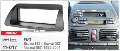 Carav Carav 11-017 | 1DIN переходная рамка FIATBravo (182), Brava(182), Marea (185) 1995-2001 (фото, вид 2)