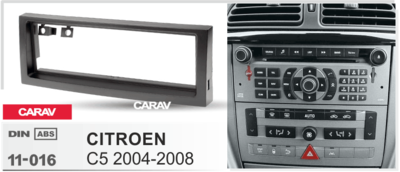 Carav Carav 11-016 | 1DIN переходная рамка Citroen C5 2004-2008 (фото, вид 3)