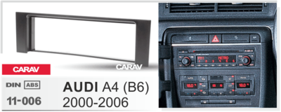 Carav Рамка AUDI A4 (B6) 2000-2006 (CARAV 11-006) (фото, вид 3)
