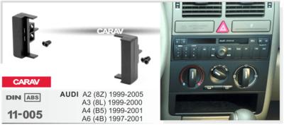 Carav Carav 11-005 | 1DIN рамка AUDI A2 (8Z) 1998-2005, A3 (8L) 2000, A4 (B5) 1999-2001, A6 (4B) 1997-2000, A6 (4B) 2003-2004 (фото, вид 2)