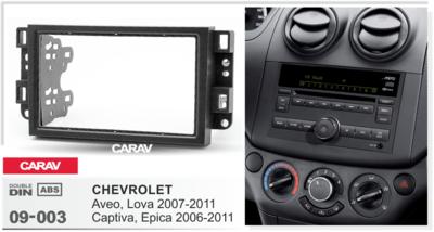Carav Carav 09-003 | 2DIN переходная рамка Chevrolet Aveo, Lova 2007-2011, Captiva, Epica 2006-2011 (фото, вид 2)