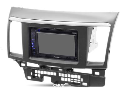 Carav Carav 08-006   2DIN переходная рамка Mitsubishi Lancer Х, Galant Fortis 2007+,Proton Inspira 2010+ (фото, вид 3)
