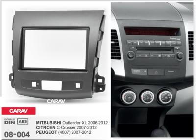 Carav Carav 08-004   2DIN переходная рамка Peugeot (4007) 2007-2012, Mitsubishi Outlander XL 2006-2012, Citroen C-Crosser 2007-2012 (фото, вид 1)