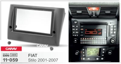Carav Carav 11-059 | 2DIN переходная рамка Fiat Stilo 2001-2007 (фото, вид 3)