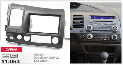 Carav Carav 11-063 | 2DIN переходная рамка Honda Civic Sedan 2007-2011 (руль слева) (фото, вид 2)