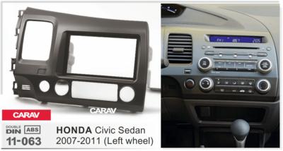 Carav Carav 11-063 | 2DIN переходная рамка Honda Civic Sedan 2007-2011 (руль слева) (фото, вид 3)