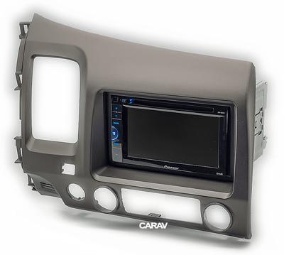 Carav Carav 11-063 | 2DIN переходная рамка Honda Civic Sedan 2007-2011 (руль слева) (фото, вид 4)