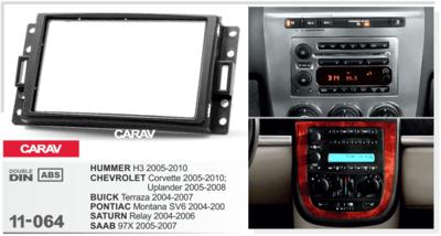 Carav Carav 11-064   2DIN переходная рамка Hummer H3 2005-2010 (фото, вид 4)