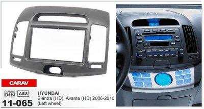 Carav Carav 11-065   2DIN переходная рамка Hyundai Elantra (HD), Avante (HD) 2006-2010 (руль слева (фото, вид 2)