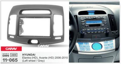 Carav Carav 11-065   2DIN переходная рамка Hyundai Elantra (HD), Avante (HD) 2006-2010 (руль слева (фото, вид 4)