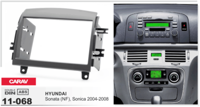 Carav Carav 11-068   2DIN переходная рамка Hyundai Sonata (NF), Sonica 2004-2008 (фото, вид 1)