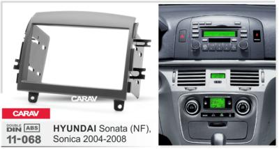 Carav Carav 11-068   2DIN переходная рамка Hyundai Sonata (NF), Sonica 2004-2008 (фото, вид 2)