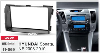 Carav Carav 11-069 | 2DIN переходная рамка Hyundai Sonata (NF) 2008-2010 (фото, вид 3)