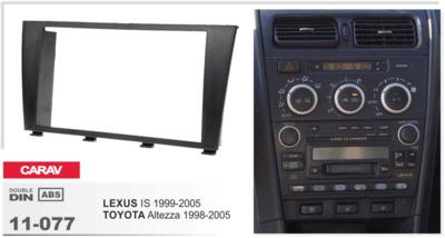 Carav Carav 11-077 | 2DIN переходная рамка Toyota Altezza 1998-2005, Lexus IS 1999-2005 (фото, вид 1)