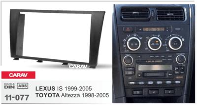 Carav Carav 11-077 | 2DIN переходная рамка Toyota Altezza 1998-2005, Lexus IS 1999-2005 (фото, вид 2)