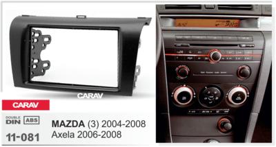 Carav Carav 11-081   2DIN переходная рамка Mazda (3) 2004-2008, Axela 2006-2008 (фото, вид 1)