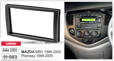 Carav Carav 11-083   2DIN переходная рамка Mazda MPV 1999-2005, Premasy 1999-2005 (фото, вид 2)