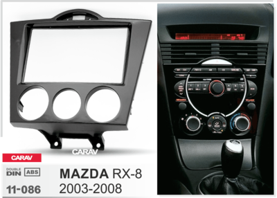 Carav Carav 11-086   2DIN переходная рамка Mazda RX-8 2003-2008 (без климат-контроля) (CARAV 11-086) (фото, вид 1)