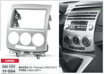 Carav Carav 11-084 | 2DIN переходная рамка Mazda (5), Premacy 2005-2010, Ford i-Max 2006-2009 (фото, вид 2)