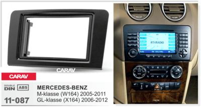 Carav Carav 11-087 | 2DIN переходная рамка Mercedes-Benz (W164) 2005-2011, GL-Klasse (X164) 2006-2012 (фото, вид 2)