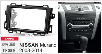 Carav Carav 11-089 | 2DIN переходная рамка Nissan Murano 2008-2014 (фото, вид 1)