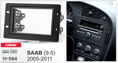 Carav Carav 11-094   2DIN переходная рамка Saab (9-5) 2005-2011 (фото, вид 1)