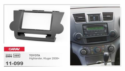 Carav Carav 11-099   2DIN переходная рамка Toyota Highlander 2008-2013, Kluger 2008-2014 (фото, вид 2)