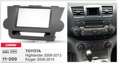 Carav Carav 11-099   2DIN переходная рамка Toyota Highlander 2008-2013, Kluger 2008-2014 (фото, вид 3)