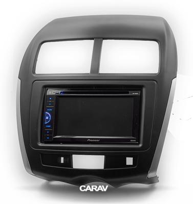 Carav Carav 11-103 | 2DIN переходная рамка Peugeot (4008) 2012+ , Mitsubishi Outlander Sport, ASX, RVR 2010-2016,Citroen C4 Aircross 2012+ (с платой для сохранения функций сигнальных ламп AirBag и аварийного сигнала) (фото, вид 4)