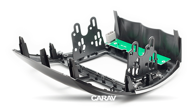 Carav Carav 11-103 | 2DIN переходная рамка Peugeot (4008) 2012+ , Mitsubishi Outlander Sport, ASX, RVR 2010-2016,Citroen C4 Aircross 2012+ (с платой для сохранения функций сигнальных ламп AirBag и аварийного сигнала) (фото, вид 8)