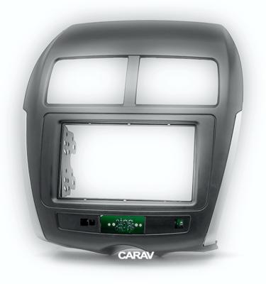 Carav Carav 11-103 | 2DIN переходная рамка Peugeot (4008) 2012+ , Mitsubishi Outlander Sport, ASX, RVR 2010-2016,Citroen C4 Aircross 2012+ (с платой для сохранения функций сигнальных ламп AirBag и аварийного сигнала) (фото, вид 9)