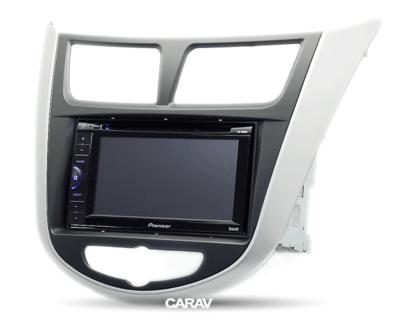 Carav Carav 11-105   2DIN переходная рамка Hyundai Solaris, i-25, Accent, Verna 2010-2017 (фото, вид 4)