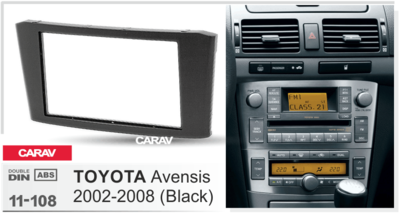 Carav Carav 11-108 | 2DIN переходная рамка Toyota Avensis 2002-2008 (фото, вид 5)