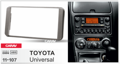 Carav Carav 11-107 | 2DIN переходная рамка Toyota универсальная (фото, вид 3)