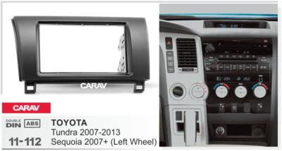 Carav Carav 11-112 | 2DIN переходная рамка Toyota Tundra 2007-2013, Sequoia 2007+ (фото, вид 3)