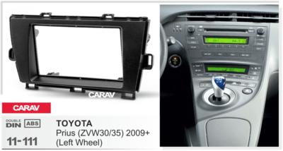 Carav Carav 11-111   2DIN переходная рамка Toyota Prius 2009-2012 (руль слева) (фото, вид 3)